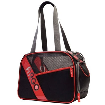 Argo by Teafco City-Pet Airline Approved Pet Carrier, Black with Red Trim, Medium