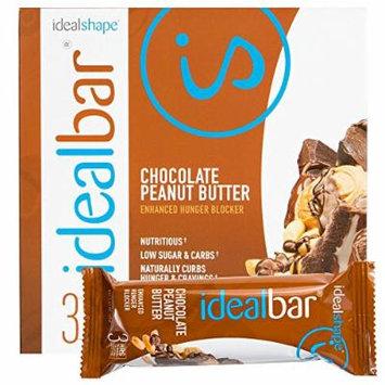 IdealBar, Meal Replacement Bars, Chocolate Peanut Butter, w/ Hunger Blocker - 140 Calories, 8g Sugar, 10g Protein - 7 Bars