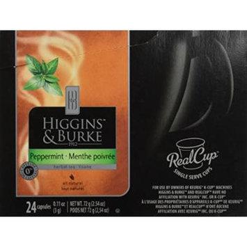 Higgins & Burke Peppermint Tea Capsules for Keurig K-cup Brewers (24 Capsules)