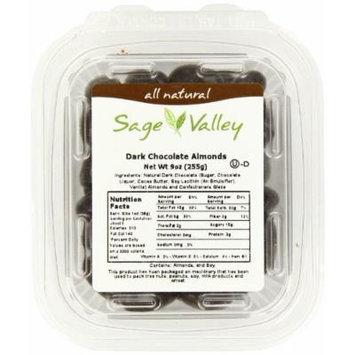 Sage Valley Dark Chocolate Almonds, 9 Ounce