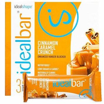 IdealBar, Meal Replacement Bars, Cinnamon Caramel Crunch, w/ Hunger Blocker - 140 Calories, 7g Sugar, 10g Protein - 7 Bars