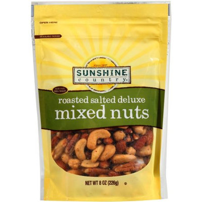 Generic Sunshine Country Roasted Salted Deluxe Mixed Nuts, 8 oz