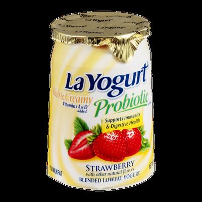 La Yogurt Probiotic Rich & Creamy Low Fat Yogurt Strawberry