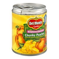 Del Monte Raspberry Flavored Light Syrup Chunky Peaches