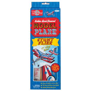 T.s. Shure Rubber Band Powered Stunt Flier Model Plane Kit