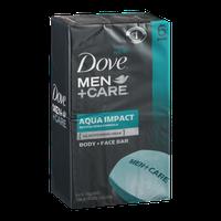 Dove Men+Care Aqua Impact Body and Face Bar 4 oz, 6 Bar