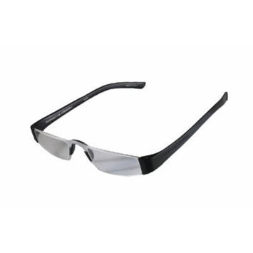Porsche Design +2.00 Lightweight Reading Tool Model P'8801 ~ Titan/Black Color Frame with Anti-Reflection coated lenses - Can be folded extremely flat to fit into breast pocket. +2.00 Dioptre Lenses