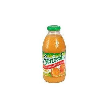 Everfresh: Pure 100% Orange Juice 16 Oz (12 Pack)