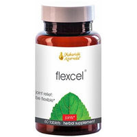Flexcel , 60 Herbal Tablets , Natural Herbal Supplement - Joint Mobility & Strengthens Bones , Anti-Inflammatory , Helps Repair Cartilage, Ligaments & Tendons , Powerful Formula with Ashwagandha