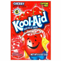 Kool-Aid Cherry Unsweetened Soft Drink Mix, 0.13 Oz (Bonus Pack of 50 Packets)