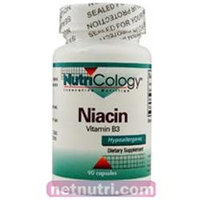 Allergy Research nutricology Niacin Vitamin B3 90 Caps by Nutricology/ Allergy Research Group