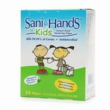 Sani Hands Sani-Hands KIDS Instant Hand Sanitizer Wipes Travel Pack, 15 Count (Pack of 10)