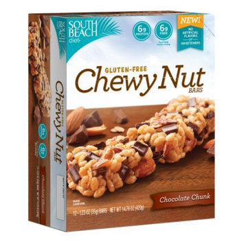 South Beach Diet Gluten-Free Chewy Nut Bars Chocolate Chunk