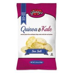Glenny's Quinoa & Kale Gluten Free Multi Grain Chips, Sea Salt, 5 oz Bag, 12/Ca