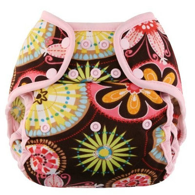 Blueberry Coveralls Diaper Cover Snap, Butterflies (Discontinued by Manufacturer)