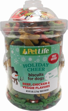 Triumph Petlife Holiday Cheer Biscuits For Dogs - Assorted - 5 LBs