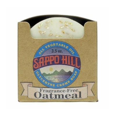 Sappo Hill Soapworks Sappo Hill Natural Oatmeal Glycerine Soap Fragrance Free 3.5 oz Case of 12