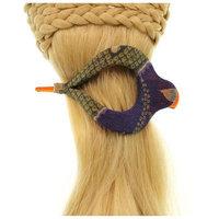 Annie Loto Sudios Jewelry Green Arch Clip Sml Hair Accessory Style, 1.75 in. - 365A