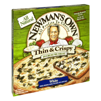 Newman's Own All Natural Thin & Crispy White Pizza
