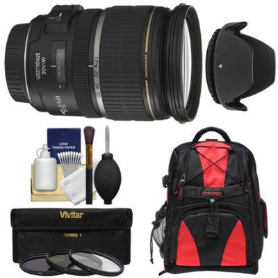 Canon EF-S 17-55mm f/2.8 IS USM Zoom Lens with Backpack + 3 Filters + Hood + Kit for EOS 70D, Rebel T3, T3i, T4i, T5, T5i, SL1 DSLR Cameras