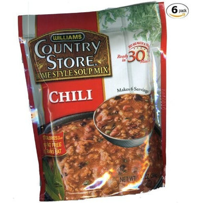 Williams Foods Williams Country Store Soup Mixes, Chili, 9.37-Ounce Packages (Pack of 6)