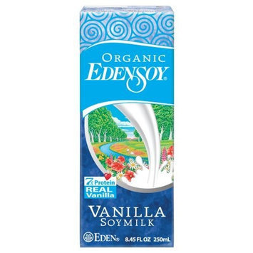 EdenSoy Organic Soymilk, Vanilla, 8.45-Ounce Boxes (Pack of 27)