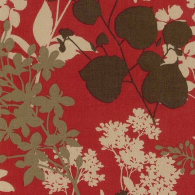 Blazing Needles Set of 4 Outdoor Patio Cushions-Montfleuri Sangria