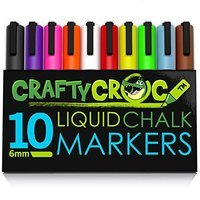 CraftyCrocTM CraftyCroc CC1-100 Chalk Markers With Unique Reversible Tip, Pack of 10, Assorted color