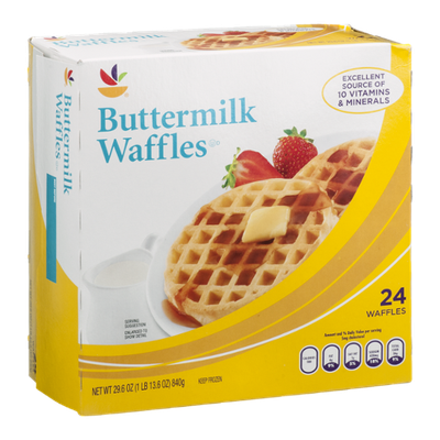 Ahold Waffles Buttermilk - 24 CT
