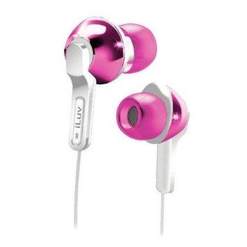 iLuv iEP322 (Pink) Empire City Lights In-Ear Earphones