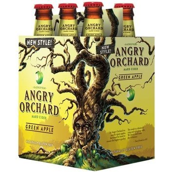 Angry Orchard Green Apple Hard Cider, 12 fl oz, 6 pack