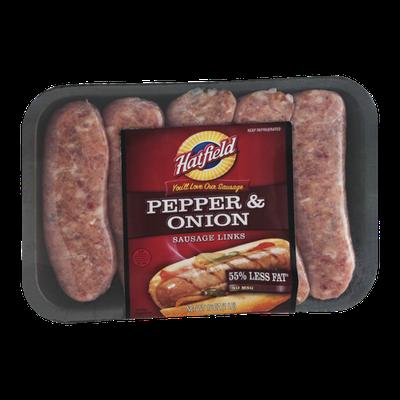 Hatfield Sausage Links Pepper & Onion 55% Less Fat - 5 CT