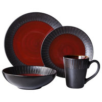Threshold 16 Piece Lawrence Dinnerware Set - Red