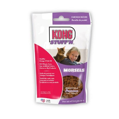 KONG Stuff'N Chicken Recipe Morsels for Cats, 3-ounces