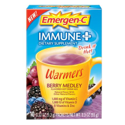 Emergen-C Immune+ Warmers, Berry Medley