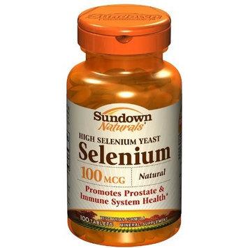 Sundown Naturals High Potency Natural Selenium, 100 mcg, 100 Tablets