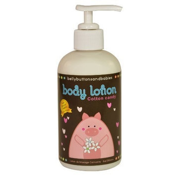 Belly Buttons and Babies Organic Cotton Candy Soothing Body Lotion, 8 Ounce