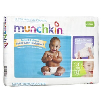 Munchkin Super Premium Diapers Jumbo Pack - Size 3 (36 Count)