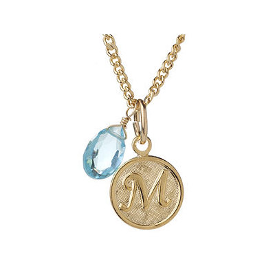 a.v. max M Monogram Charm Necklace