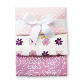 Nojo NoJo Infant Girl's 3 Pack Receiving Blankets Butterfly Blossoms - CROWN CRAFTS INFANT PRODUCTS, INC.