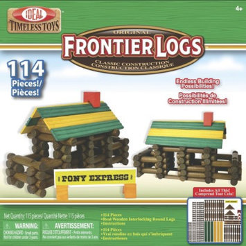 Ideal 114 piece Frontier Logs in Canister