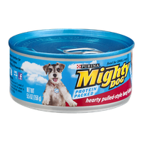 Purina Mighty Dog Hearty Pulled-Style Beef Dinner Dog Food