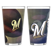 Boelter Brands MLB Brewers Set of 2 Shadow Pint Glass - 16oz