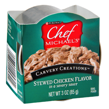 Purina Chef Michaels Carvery Creations Stewed Chicken Flavor Dog Food