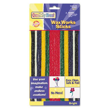 Chenille Kraft 4170 Wax Works Strips Bright Hues Colors 48 Pieces