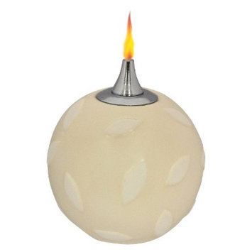 Lamplight Ivory Petals Oil Candle
