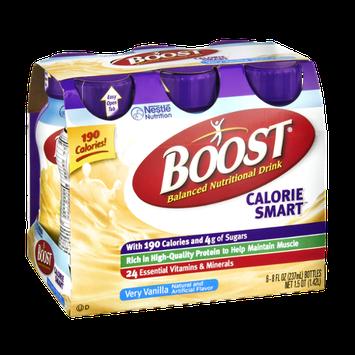 Boost Calorie Smart Very Vanilla Balanced Nutritional Drink - 6 CT
