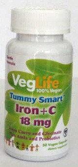 Tummy Smart Iron + C 18 mg VegLife 50 VCaps