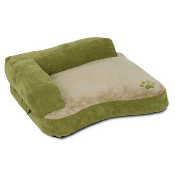 Petmate Chaise Bolster Pet Bed, 22-Inch by 18-Inch, Arbor Green