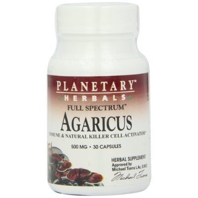 Planetary Herbals Agaricus Extract Full Spectrum 500 Mg, 30 Count